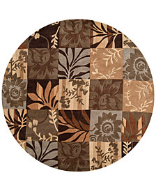 Surya Cosmopolitan COS-8817 Dark Brown 8' Round Area Rug