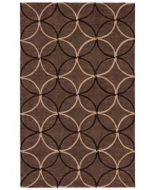CLOSEOUT! Surya  Cosmopolitan COS-8868 Dark Brown 2' x 3' Area Rug