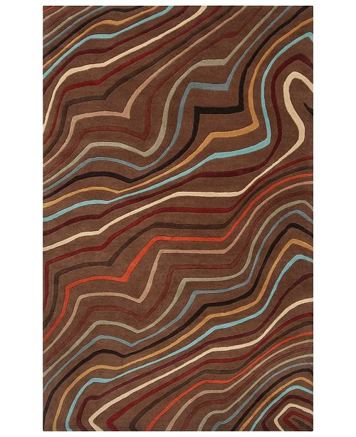 "Surya Forum FM-7155 Dark Red 7'6"" x 9'6"" Area Rug"