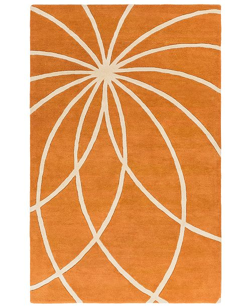 "Surya Forum FM-7175 Burnt Orange 7'6"" x 9'6"" Area Rug"