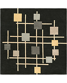 Surya Forum FM-7200 Black 4' Square Area Rug