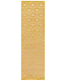 "Surya Portera PRT-1057 Mustard 2'6"" x 7'10"" Runner Area Rug"
