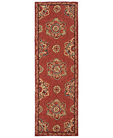 "Surya Rain RAI-1071 Burnt Orange 2'6"" x 8' Runner Area Rug"