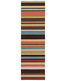 "Surya Rain RAI-1091 Garnet 2'6"" x 8' Runner Area Rug, Indoor/Outdoor"