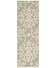"Surya Rain RAI-1103 Sea Foam 2'6"" x 8' Runner Area Rug"
