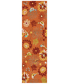 "Surya Rain RAI-1104 Burnt Orange 2'6"" x 8' Runner Area Rug"