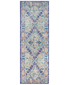 "Surya Germili GER-2321 Bright Purple 2'11"" x 7'10"" Runner Area Rug"