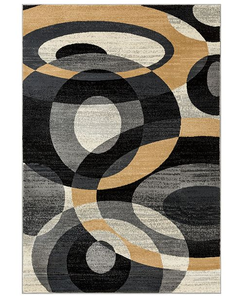 "Surya Riley RLY-5105 Medium Gray 5'3"" x 7'6"" Area Rug"