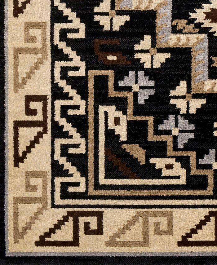 "Abbie & Allie Rugs - Paramount PAR-1088 Black 18"" Square Swatch"