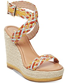 68bf6f267 Madden Girl Narla Woven Platform Wedge Sandals