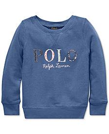 Polo Ralph Lauren Toddler Girls Logo Graphic Sweatshirt