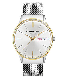 Kenneth Cole New York Men's Stainless Steel Mesh Bracelet Watch 43mm