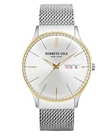 Kenneth Cole New York Men's Stainless Steel Mesh Bracelet Watch 43mm