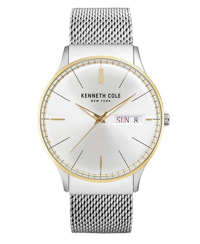 Kenneth Cole New York - Men's Stainless Steel Mesh Bracelet Watch 43mm
