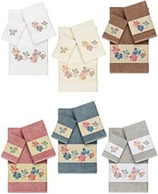 Caroline Embroidered Turkish Cotton Bath Towels