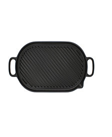 """Chasseur French Cast Iron 14"""" Oval Grill Pan"""