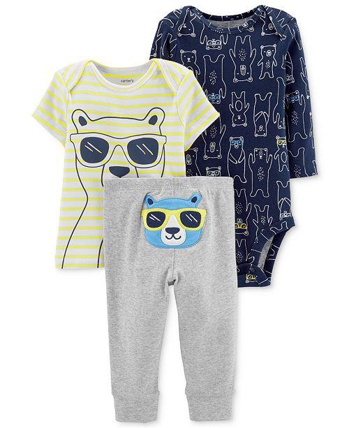 Carter s Baby Boys 3-Pc. Cotton Bears Striped T-Shirt b1332a3fa