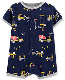 Carter's Baby Boys Cotton Construction Romper