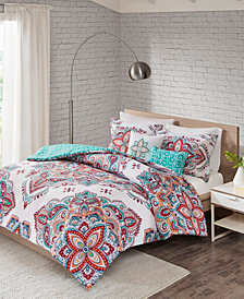 510 Design Amari Full/Queen 5-Piece Reversible Print Duvet Set