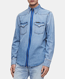 Calvin Klein Jeans Men's Foundation Western Shirt