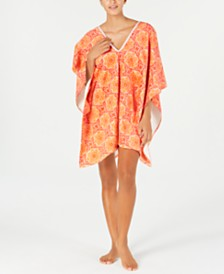 Martha Stewart Collection Bohemian Rhapsody Beach Poncho, Created for Macy's