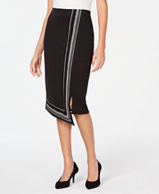 Alfani Asymmetrical-Hem Midi Skirt, Created for Macy's