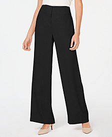 Alfani Petite Tummy-Control Wide-Leg Pants, Created for Macy's