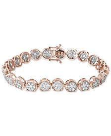 EFFY® Diamond Cluster Link Bracelet (3-3/4 ct. t.w.) in 14k White & Rose Gold