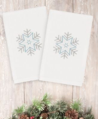 Christmas Crystal 100% Turkish Cotton 2-Pc. Hand Towel Set