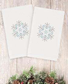 Christmas Crystal 100% Turkish Cotton 2-Pc. Hand Towel Set