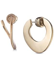 Carolee Gold-Tone Twisted Hoop Earrings