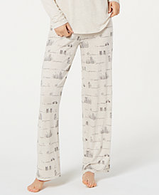 Jenni by Jennifer Moore Printed Knit Pajama Pants, Created for Macy's