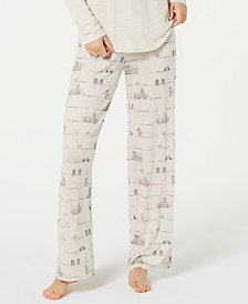 Jenni by Jennifer Moore Printed Knit Pajama Pants, Created for Macy's 7269389