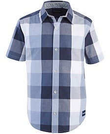 Calvin Klein Big Boys Buffalo Twist Cotton Shirt