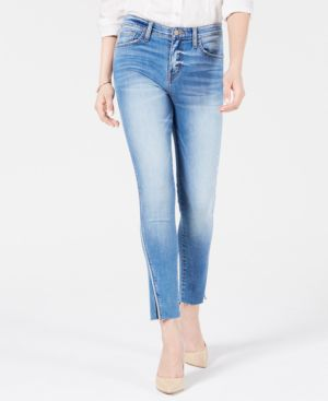 FLYING MONKEY Ripped Raw-Hem Jeans in High Dive