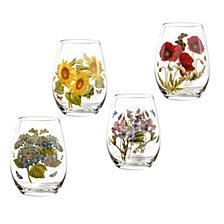 Portmeirion Botanic Garden Stemless Wine Glasses, Set of 4