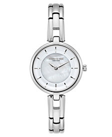 Kenneth Cole New York Ladies MOP Silver Bracelet Watch 32mm