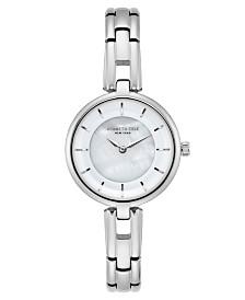 Kenneth Cole New York Ladies MOP Silver Bracelet Watch 32mm