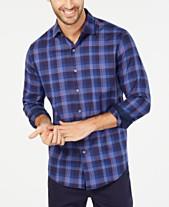 acf4d05b8 Tasso Elba Men s Umbruzo Plaid Shirt