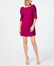 Vince Camuto Puff-Sleeve Shift Dress