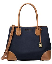 62724d2a00 MICHAEL Michael Kors Mercer Gallery Canvas Center Zip Tote