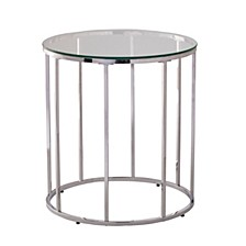Hayesville Round End Table with Glass Top