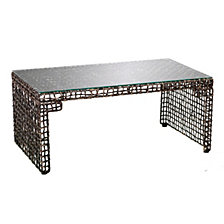 CLOSEOUT! Lilian Woven Cocktail Table