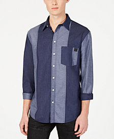 DKNY Men's Patchwork Woven Shirt