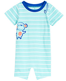 First Impressions Baby Boys Striped Monkey Cotton Romper, Created for Macy's