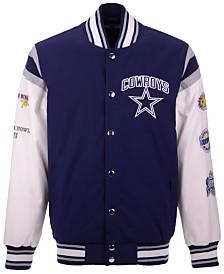 Authentic NFL Apparel Men's Dallas Cowboys Home Team Varsity Jacket