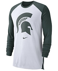 Nike Men's Michigan State Spartans Breathe Shooter Long Sleeve T-Shirt