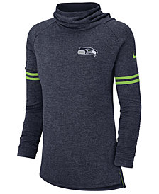 Nike Women's Seattle Seahawks Funnel Logo Long Sleeve T-Shirt