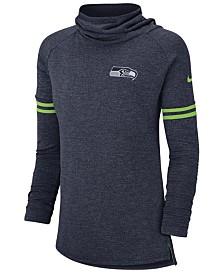 Nike Women's Seattle Seahawks Funnel Logo Long Sleeve T-Shirt