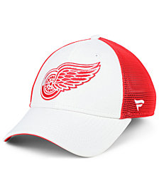 Authentic NHL Headwear Detroit Red Wings Tech Mesh Flex Stretch Fitted Cap